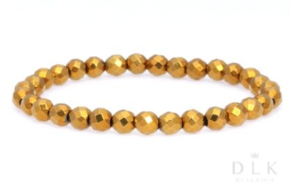 Bransoletka - Złoty hematyt