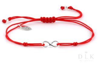 """Bransoletka """"Czerwony sznurek z nieskończonością"""""""