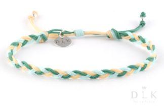 Bransoletka ze sznurka - Wiosenny warkocz