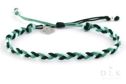 Bransoletka ze sznurka - Zielony warkocz