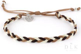 Bransoletka ze sznurka - Brązowy warkocz