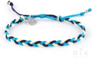 Bransoletka ze sznurka - Lazurowy warkocz