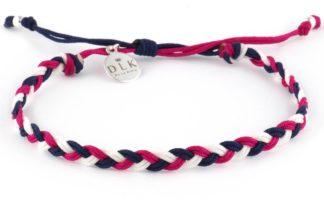 Bransoletka ze sznurka - Marynarski warkocz