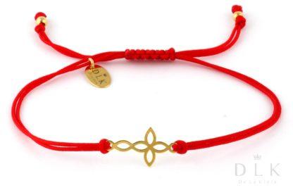 Bransoletka Czerwony sznurek z krzyżykiem