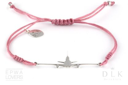 Bransoletka Różowy sznurek z MD-11