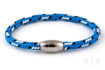 Bransoletka męska z niebieskiej liny