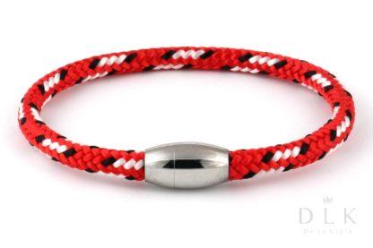 Bransoletka męska z czerwonej liny