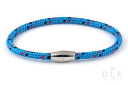 Bransoletka męska z niebieskiej linki