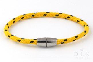"""Bransoletka męska z liny """"Żółta smukła linka"""""""