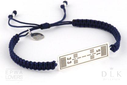 Bransoletka ze sznurka - Granatowa makrama z drogami startowymi EPWA