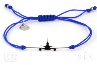 """Bransoletka """"Niebieski sznurek z czarnym MD-11"""""""