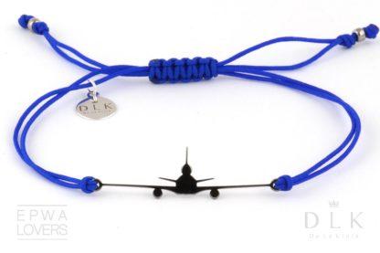 Bransoletka Niebieski sznurek z czarnym MD-11
