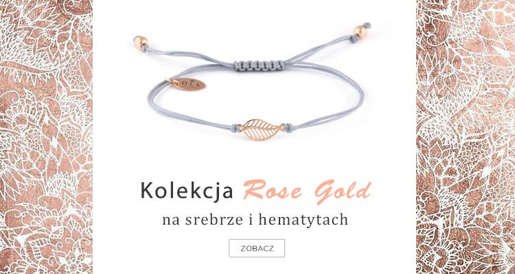 Bransoletki z hematytów i srebra Gold Rose De La Kinia