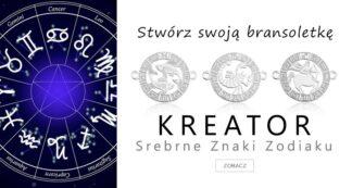 Kreator biżuterii ze srebrnymi znakami zodiaku