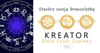 Kreator biżuterii ze złotymi znakami zodiaku