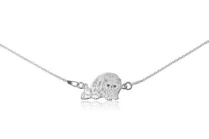Naszyjnik z kotem egzotycznym srebrnym na łańcuszku