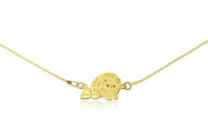 Naszyjnik z kotem egzotycznym złotym na łańcuszku