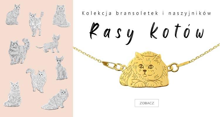 Bransoletki i naszyjniki z rasami kotów