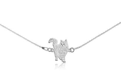 Naszyjnik z kotem norweskim srebrnym na łańcuszku