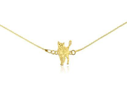 Naszyjnik z kotem rosyjskim złotym na łańcuszku