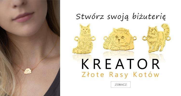 Kreator biżuterii ze srebra z rasami kotów