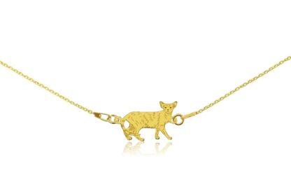 Naszyjnik z kotem orientalnym złotym na łańcuszku